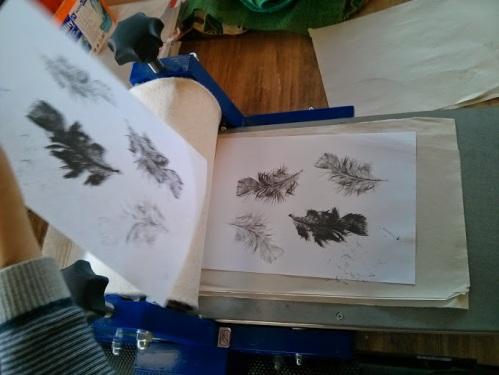 Oscar's feather prints